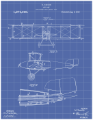 Airplane Patent on Blueprint
