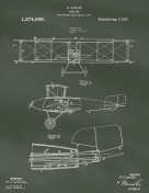 Airplane Patent on Chalkboard