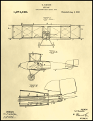 Airplane Patent on Parchment