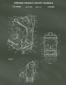 Backpack Patent on Chalkboard