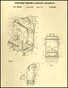Backpack Patent on Parchment