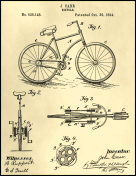 Bicycle Patent on Parchment
