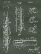 Clarinet Patent on Chalkboard