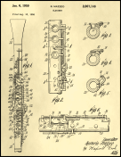 Clarinet Patent on Parchment