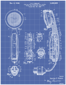 Dictaphone Patent on Blueprint