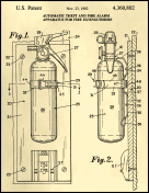Fire Extinguisher Patent on Parchment