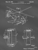 Helicopter Patent on Blackboard