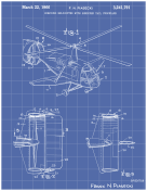 Helicopter Patent on Blueprint