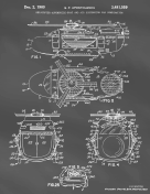 Helicopter Boat Car Patent on Blackboard
