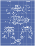 Helicopter Boat Car Patent on Blueprint