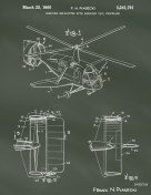 Helicopter Patent on Chalkboard