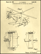 Helicopter Patent on Parchment