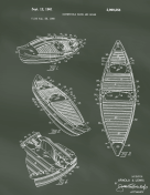 Kayak Canoe Patent on Chalkboard