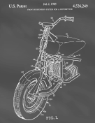 Motorcycle Patent on Blackboard