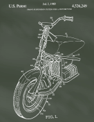 Motorcycle Patent on Chalkboard