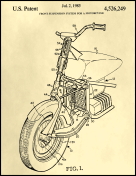 Motorcycle Patent on Parchment