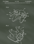 N64 Controller Patent on Chalkboard