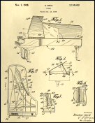 Piano Patent on Parchment
