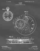 Pocket Watch Patent on Blackboard