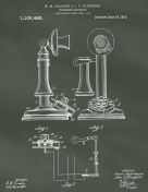Rotary Telephone Patent on Chalkboard