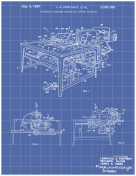 Sewing Machine Patent on Blueprint