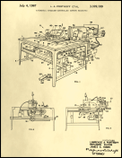Sewing Machine Patent on Parchment