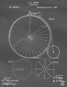 Velocipede Patent on Blackboard