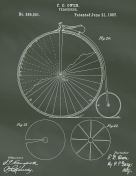 Velocipede Patent on Chalkboard