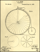 Velocipede Patent on Parchment