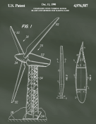 Wind Turbine Patent on Chalkboard