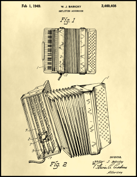 Accordion Patent on Parchment Printable Patent