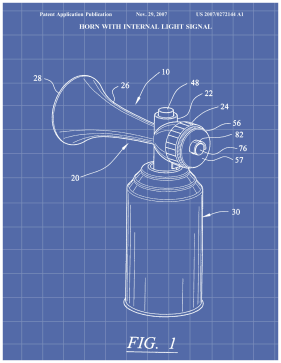 Air Horn Patent on Blueprint Printable Patent