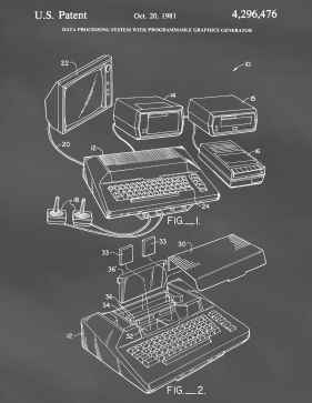 Atari Patent on Blackboard Printable Patent