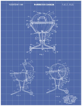 BBQ Patent on Blueprint Printable Patent