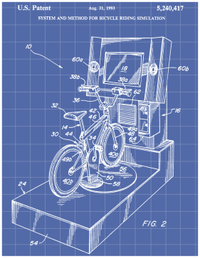 Bike Simulation Patent on Blueprint Printable Patent