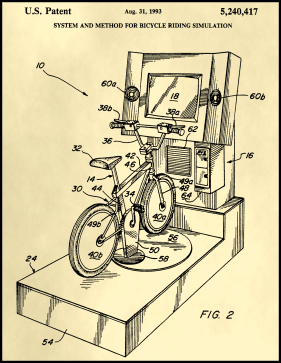 Bike Simulation Patent on Parchment Printable Patent