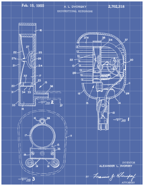 Crystal Microphone Patent on Blueprint Printable Patent