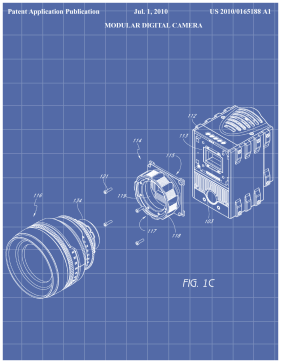 Digital Camera Patent on Blueprint Printable Patent
