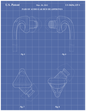 Earbuds Patent on Blueprint Printable Patent