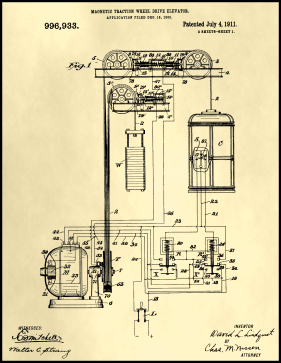 Elevator Patent on Parchment Printable Patent