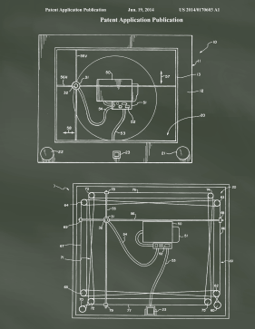 Etch-A-Sketch Patent on Chalkboard Printable Patent