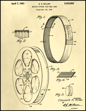 Film Reel Patent on Parchment Printable Patent