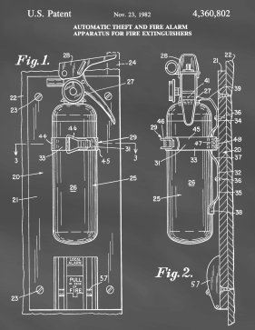 Fire Extinguisher Patent on Blackboard Printable Patent