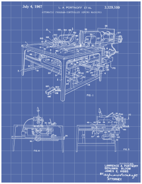 Sewing Machine Patent on Blueprint Printable Patent
