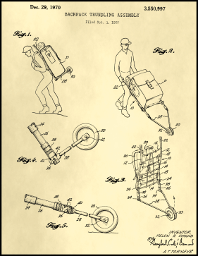 Trundling Backpack Patent on Parchment Printable Patent
