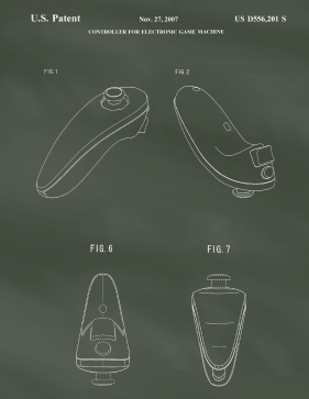 Wii Remote Patent on Chalkboard Printable Patent
