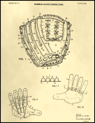 Baseball Glove Patent on Parchment Report Template