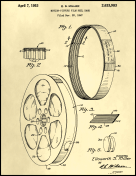 Film Reel Patent on Parchment Report Template