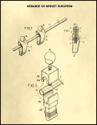 Foosball Figurine Patent on Parchment Report Template