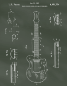 Guitar Patent on Chalkboard Report Template